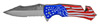 "4.5"" Spring Assist American Eagle Folding Knife - American Flag"