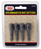 4-pc. Magnetic Nut Setters