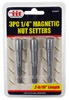 """3-pc. 1/4"""" Magnetic Nut Setters"""