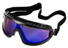 Black/Blue Mirrored Safety Goggles