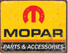 Mopar Logo Tin Sign