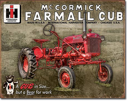Farmall  Tractor Club Tin Sign