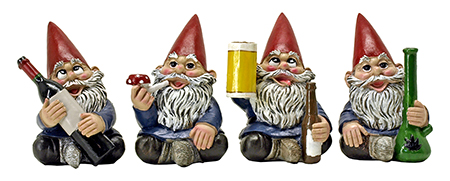 Happy Time Bunch - Garden Gnome Party Pack Bunch Statue Figurines