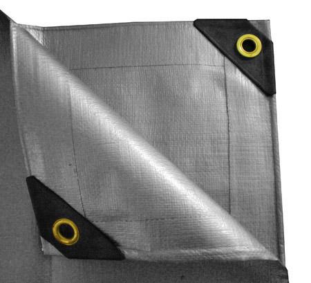 10 x 16 Heavy Duty Canopy Tarp - Silver