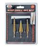 3-pc. Step Drill Bit Set