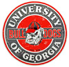 Georgia Bulldogs Distressed Round Tin Sign