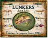 Lunkers Lures Tin Sign
