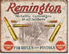 Remington for Rifles and Pistols Tin Sign