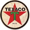 Texaco Tin Sign - Round