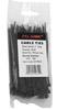 "100-pc. 4"" Black Zip Cable Ties"