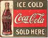 "Coca-Cola ""Ice Cold"" Tin Sign"