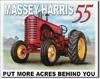 Massey Harris 55 Tin Sign