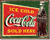 Ice Cold Green Coke Tin Sign