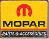 Mopar Logo Tin Sign
