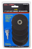 """4-pc. 3"""" Cut-Off Wheel with Mandrel"""