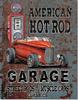 America Hot Rod Tin Sign