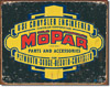 Mopar Parts and Accessories Tin Sign