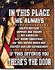 In this Place Tin Sign