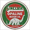 Sinclair Opaline Round Tin Sign